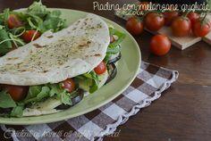 piadina con melanzane grigliate rucola e pomodorini ricetta piadina vegetariana