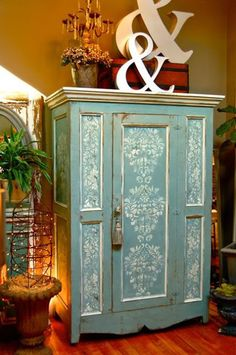 Armoire - Beautiful Painted Furniture www.MadamPaloozaEmporium.com www.facebook.com/MadamPalooza