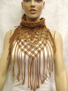 macrame Scarf. Would love this in winter white.