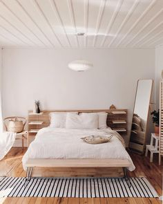 bedroom – ikea bed frame - Bed and Bedcover Ikea Bedroom Furniture, Furniture Design, Ikea Beds, Furniture Storage, Day Bed Ikea, Wood Furniture, Ikea Malm Bed, Ikea Bed Hack, Office Furniture