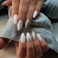 ads ads 43 White nail art designs – The Perfect manicure minimalist & Great with any outfit , simple white nail designs , white nail designs with diamonds, white nail… Diamond Nail Designs, Nail Art Designs, Latest Nail Designs, White Nail Designs, Pink Nails, My Nails, Color Nails, Sparkle Nails, Ongles Beiges