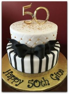 Inspiration Picture of Birthday Cake Pictures . Birthday Cake Pictures Black And Gold Birthday Cake Birthday Cakes Birthday Cake 50, Birthday Present Cake, 50th Birthday Cake For Women, 50th Birthday Cake Toppers, Elegant Birthday Cakes, Moms 50th Birthday, 50th Cake, Birthday Presents, Black And Gold Birthday Cake