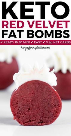 Keto Red Velvet Bites with only net carbs per fat bomb! Keto Red Velvet Bites with only net carbs per fat bomb! Keto Desserts, Keto Friendly Desserts, Dessert Recipes, Breakfast Recipes, Keto Snacks, Snacks Recipes, Diet Breakfast, Dinner Recipes, Candy Recipes