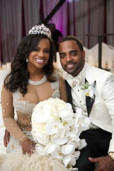 Dazzling Couple at Reception | Photography: Robin Gaucher Photography. Read More: http://www.insideweddings.com/weddings/kandi-burruss-and-todd-tucker/560/