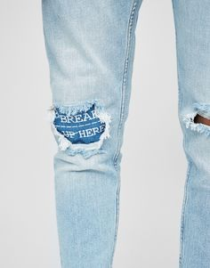 Jeans carrot fit rotos - Jeans - Ropa - Hombre - PULL&BEAR España