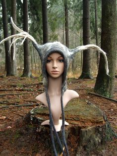 Shamanic Costume Hat King of The Forest Hat door FeltYourself