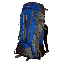 Gleam 2209 Mountain #Rucksack,/Hiking/trekking bag/ #Backpack 75 Ltrs Royal #Blue & Grey with Rain Cover