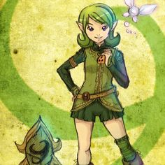 Little Saria by RaySama on deviant art. Legend of Zelda.
