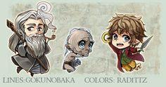 Hobbit Kawaii Keychains - PREORDERS OPEN by goku-no-baka