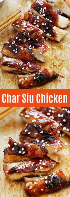 Sticky, sweet and savory chicken with crispy skin, marinated with Chinese BBQ sauce. Finger licking good | rasamalaysia.com