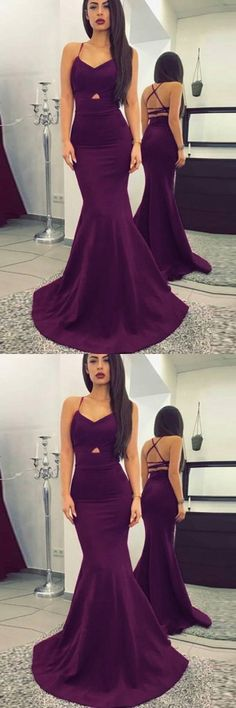 Sexy Prom Dresses,Mermaid Evening Dress,Backless Evening Dresses,Long Prom Dress,Purple Prom Dresses,Formal Evening Dresses,Spaghetti Straps Prom Dress
