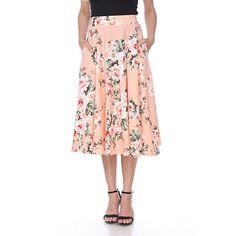 OpenSky Midi Skirt With Pockets, Midi Flare Skirt, Flared Skirt, I Love Makeup, A Line Skirts, Midi Skirts, Long Skirts, Summer Skirts, Colorful Fashion