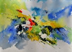 abstract watercolor 410141, painting by artist ledent pol