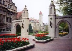 Indiana University, one of the most beautiful campus's you'll ever see.