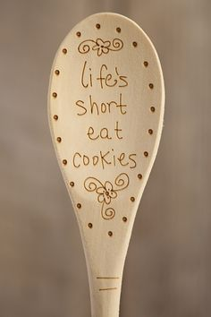Wood Burned Spoons From Natural Life