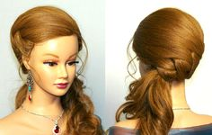 Wedding prom hairstyles for long hair. Bridal hairstyles tutorial