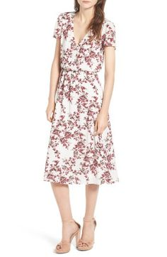 Free shipping and returns on Wayf Blouson Midi Dress at Nordstrom.com. Ultra-flattering and feminine, this lovely floral blouson dress cinches the waist and gently flows to a midi length appropriate for all occasions.