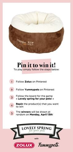 Repin to win a Happy tray worth 30 euros This tray for cats or puppy offers a cosy berth and an utmost softness thanks to its fluffy padding. Its protectionist side will make it an essential for cats who loves be loved in the warm and away from prying eyes. Want more details, click here > http://ymp.io/u/OCF #tray #berth #cat #wellbeing #zolux #yummyets