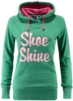 Felpa donna Shoeshine con stampa a pigmento ed interno cappuccio in contrasto.    Prezzo: 62.00€    SHOP ONLINE: http://www.athletesworld.it/felpa-shoeshine-shoeshine-9197085