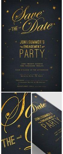Starry Night Save the Date & Invitation Design Invitation Paper, Invitation Design, Wedding Stationary, Wedding Invitations, Save The Date, Branding, Wedding Paper, Wedding Card, Youre Invited
