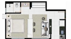 Apartamento 1Q suíte