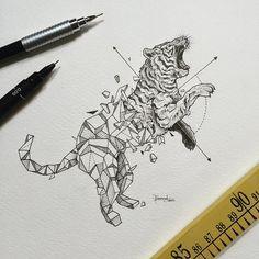 Geometric Beasts | Tiger