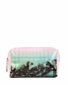 Small paradise palm tree wash bag - Light Pink | Gift Accessories | Ted Baker