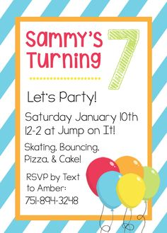Free Printable Birthday Invitations For Kids #
