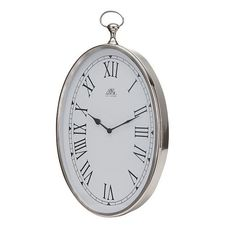 This beautiful Lene Bjerre silver oval clock will bring contemporary elegance to your wall.