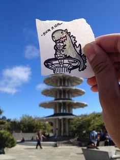 Godzilla in Japantown, San Francisco - Lume