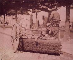 Balayeur, par Eugène Atget, 1898-1900