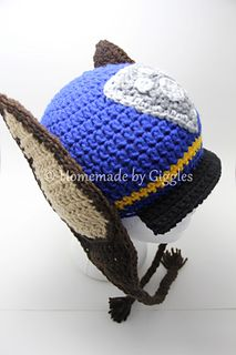 Free crochet pattern for this character hat, inspired by Chase from Paw Patrol.