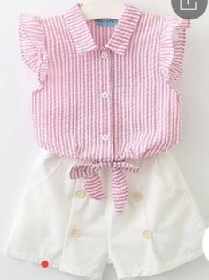 Keelorn Girls Clothing Sets 2017 Summer Fashion Style Kids Clothes Sleeveless Striped T-shirt + Plaid shorts Suit Kids Vest Outfits, Short Outfits, Kids Outfits, Fashion Outfits, Style Fashion, Fashion Tights, Fashion Brand, Fashion Jewelry, Baby Girl Shirts