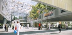 PINIweb.com.br | Hospital na Áustria utiliza átrios, jardins internos e telhados verdes | Construção Civil, Engenharia Civil, Arquitetura