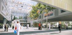 PINIweb.com.br |Hospital na Áustria utiliza átrios, jardins internos e telhados verdes| Construção Civil, Engenharia Civil, Arquitetura