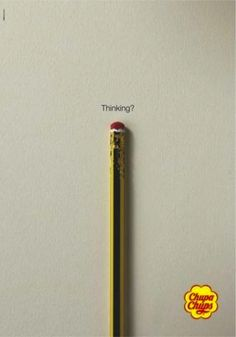 Chupa Chups - Thinking | #ads #adv #marketing #creative #publicité #print #poster #advertising #campaign