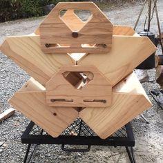 作ってみました [自作(DIY)の棚・収納] - jamsmc(キムチ) | DayOut Larp, Mobiles, Tool Box Diy, Camping Box, Chuck Box, Car Camper, Multifunctional Furniture, Picnic Table, Woodworking Projects