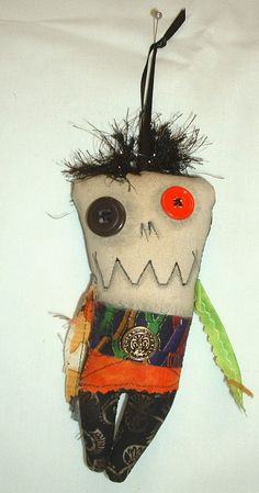 Mini Monster  Voodoo Doll - Ornament -