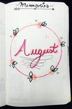 Bullet Journal | August Monthly and Weekly Setup/Layout