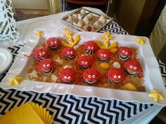 Crab cupcakes for nautical baby shower. Nautical desserts. Beautiful cookies @Jana Adams