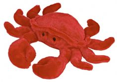 Crabby the Stuffed Red Crab at theBIGzoo.com, a family-owned gift shop with 12,000+ animal-themed items.