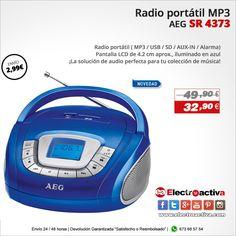 ¡La solución de audio perfecta para tu colección de música! Radio MP3 AEG SR 4373 https://www.electroactiva.com/aeg-radio-sd-usb-mp3-sr-4373-azul.html #Elmejorprecio #Radio #MP3 #Chollo #Electronica #PymesUnidas