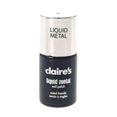 Claire's - liquid metal silver