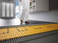 Entkopplungsmatte und Fußbodenheizung