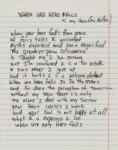 "POEM: ""When ure hero falls"" by Tupac Amaru Shakur 2pac Poems, Tupac Quotes, Lyric Quotes, Poetry Quotes, Lyrics, Life Quotes, Oscar Wilde, Attitude, Tupac Shakur"
