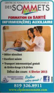 Cours comme infirmierière auxilliaire