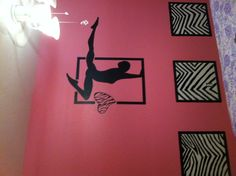 """My most recent project for an 8 yr old little gymnast wanting a """"Big girls"""" room."""