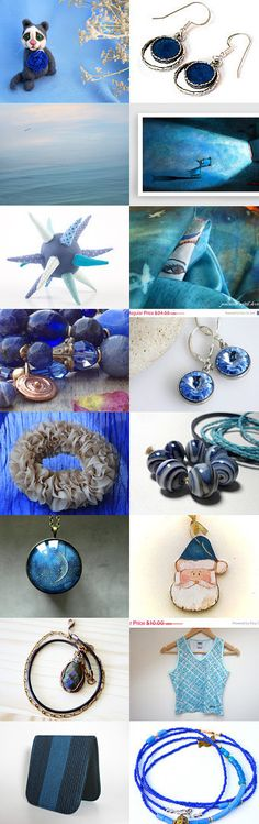 Blue gifts by Marlena Rakoczy on Etsy--Pinned with TreasuryPin.com