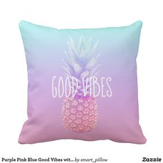 Moderne Kissenbezüge tropical pineapples pink marble modern colorful throw pillow