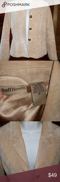 Suede RUFF HEWN jacket/blazer Stunning FALL wear!! Very lightly worn Suede Ruff Hewn blazer/jacket. Perfect for dressing up or casual. Size M. This is in like new condition. Open to OFFERS! Discounts on 2 or more items in my closet. Ruff Hewn Jackets & Coats Blazers